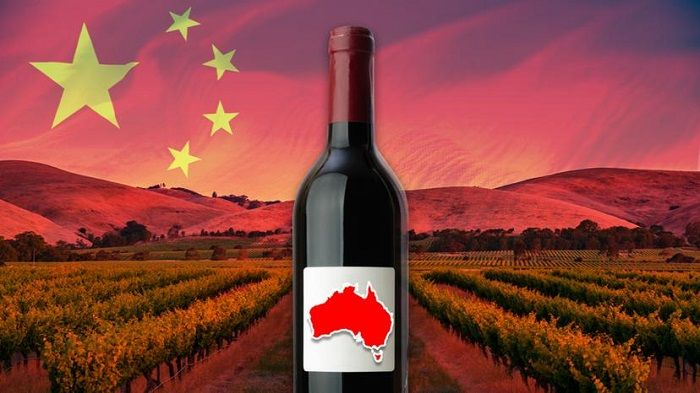 China's ticked off and might target sectors such as Australian wine.