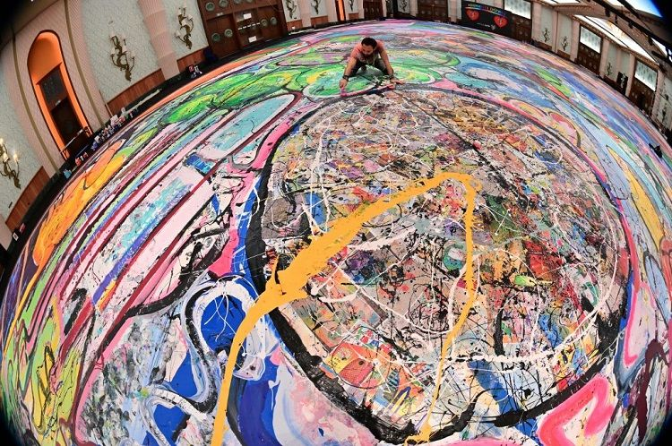 The record-breaking painting entitled The Journey of Humanity.