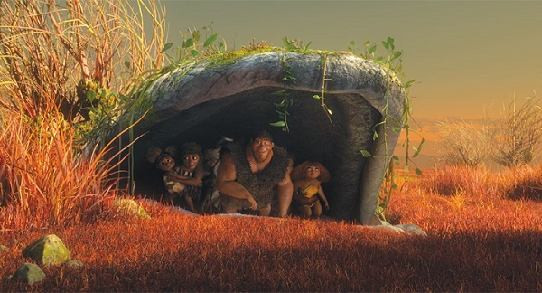 The Croods in a cave